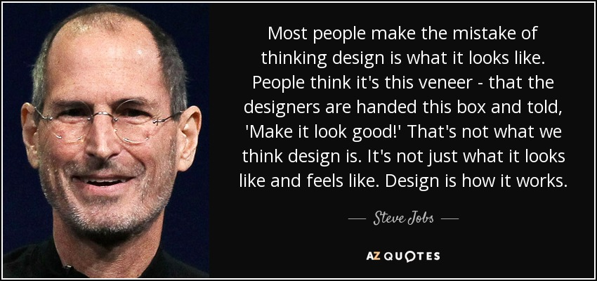 steve jobs quote about design